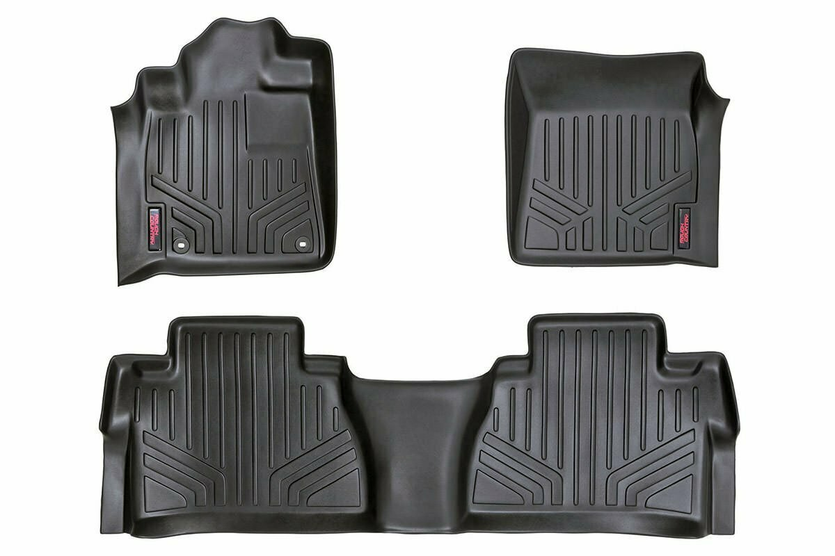 Heavy Duty Floor Mats [Front/Rear Double Cab] - (14-20 Toyota Tundra)