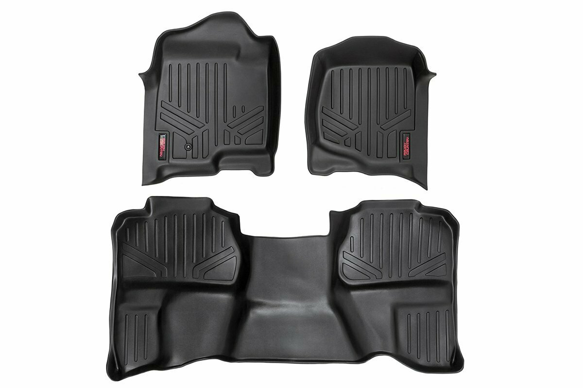 GM Heavy Duty Floor Mats [Front/Rear] - (07-13 Silverado / Sierra | 07-14 HD | Ext. Cab | Bucket Seats)