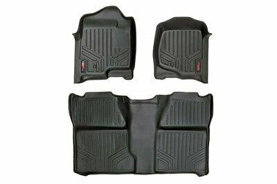 GM Heavy Duty Floor Mats [Front/Rear] - (07-13 Silverado / Sierra   07-14 HD   Crew Cab   Bucket Seats)