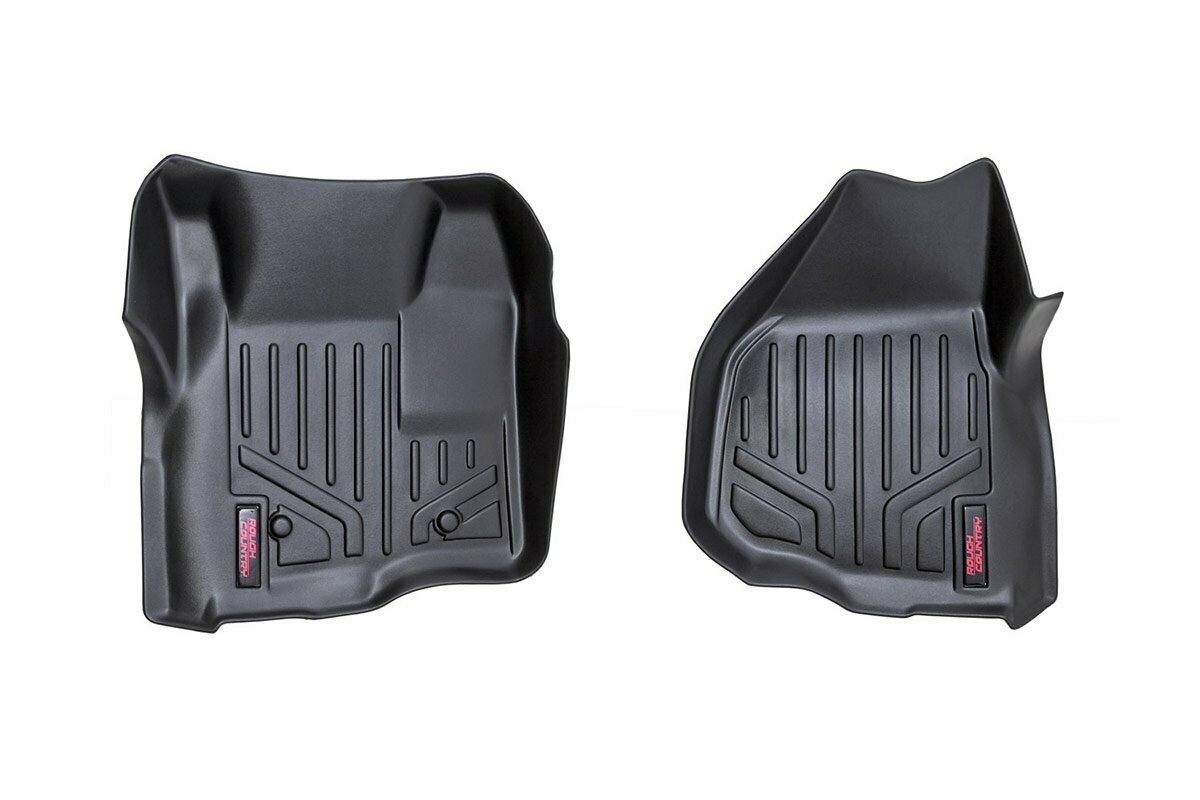 Heavy Duty Floor Mats [Front] - (11-16 Ford Super Duty | Depressed Pedal)