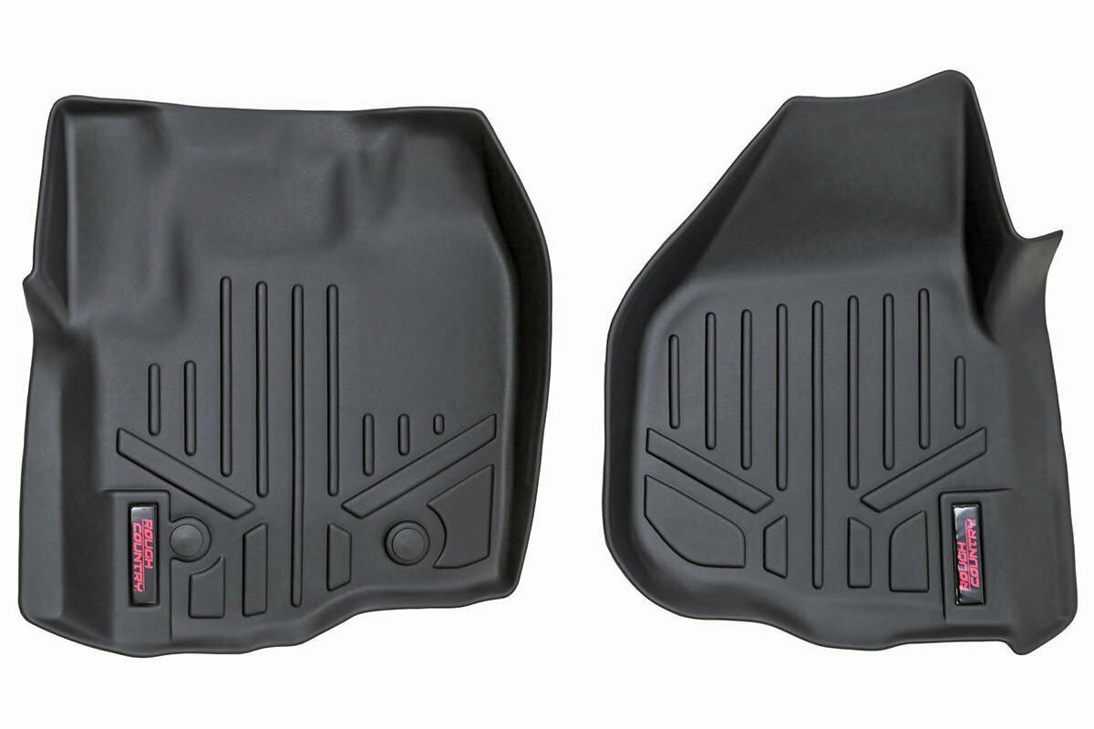 Heavy Duty Floor Mats [Front] - (12-16 Ford Super Duty | Raised Pedal)