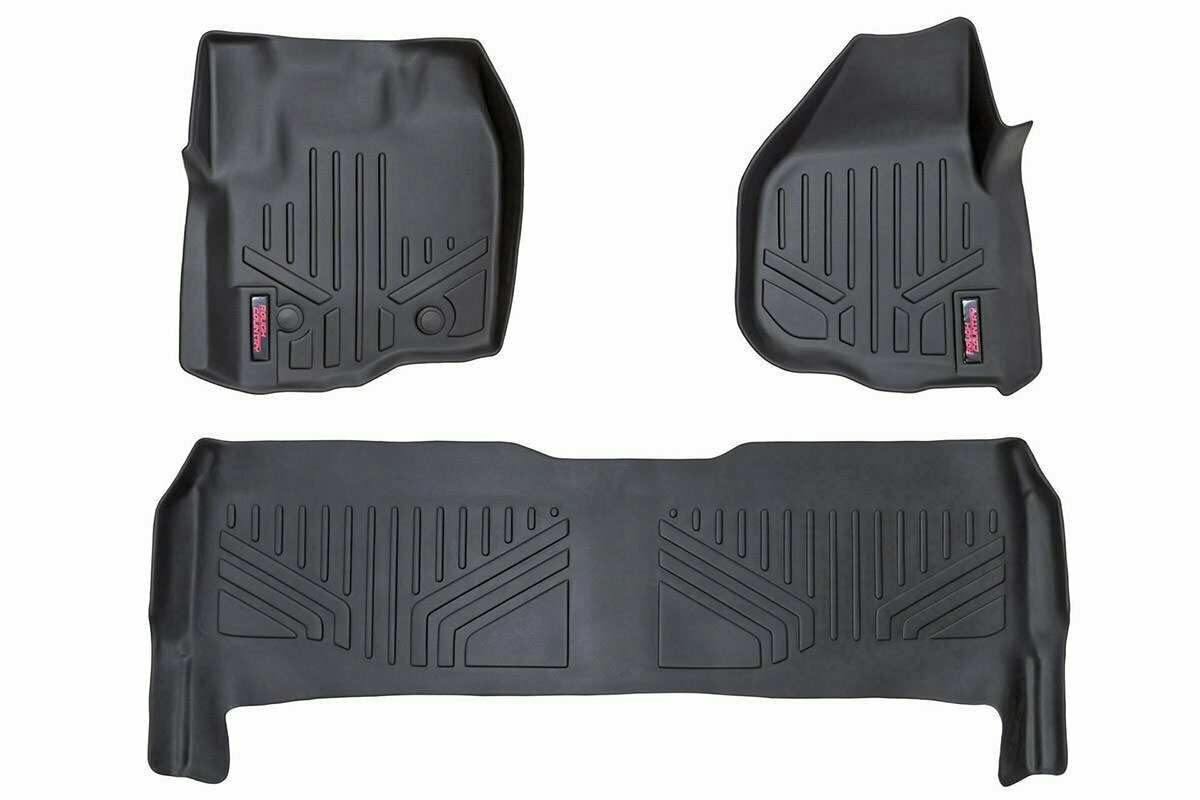 Heavy Duty Floor Mats [Front/Rear] - (12-16 Ford Super Duty Crew Cab | Raised Pedal)
