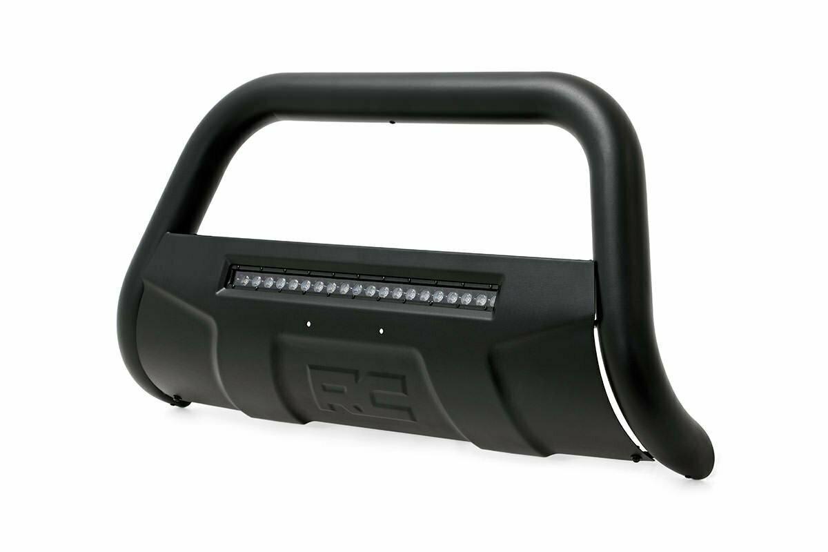 GM 07-18 1500 PU/ 07-19 SUV Bull Bar w/LED Light Bar (Black)
