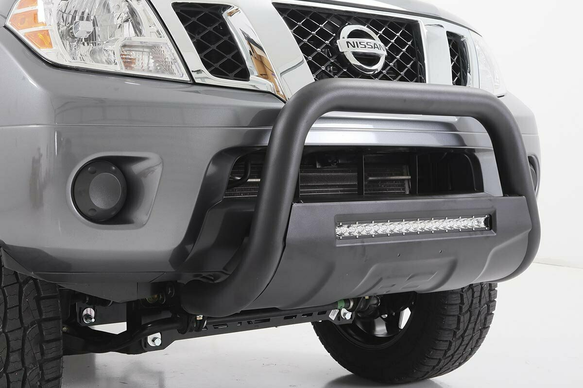 Nissan 05-19 Frontier Bull Bar w/LED Light Bar (Black)