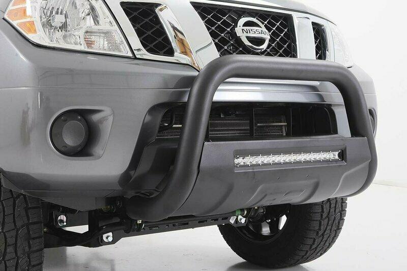 Nissan 05-19 Frontier Bull Bar w/LED Light Bar (Black)