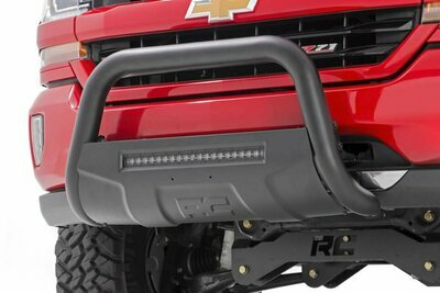 GM 11-19 2500HD/3500HD PU Bull Bar w/LED Light Bar (Black)