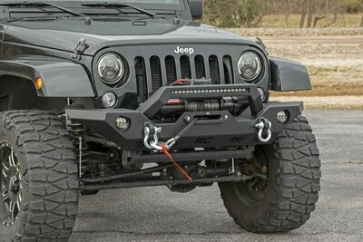 Jeep Full Width Front LED Winch Bumper (JK, JL, Gladiator JT)
