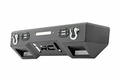 Jeep Front Stubby LED Winch Bumper | Black Series (JK, JL, Gladiator JT)