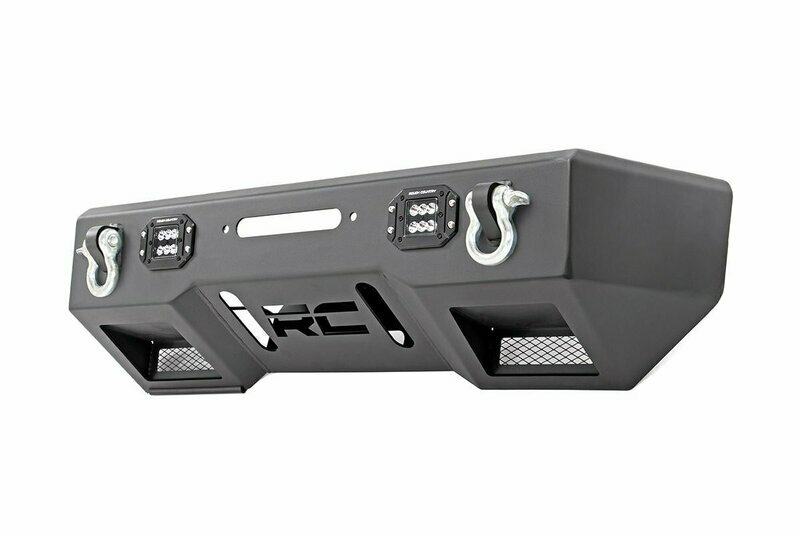 Jeep Front Stubby LED Winch Bumper | Black Series (JK, JL, Gladiator JT)