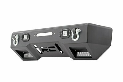 Jeep Front Stubby LED Winch Bumper | Chrome Series (JK, JL, Gladiator JT)