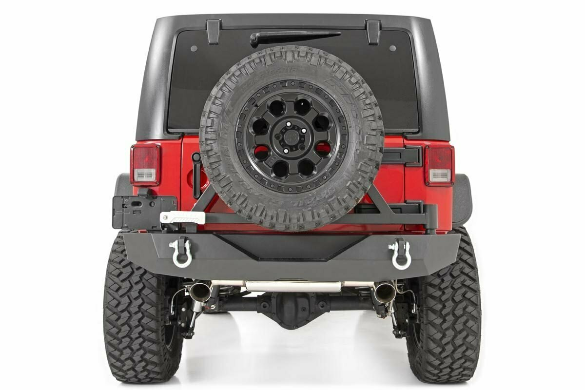 Jeep Rock Crawler Rear HD Bumper w/Tire Carrier (07-18 Wrangler JK)