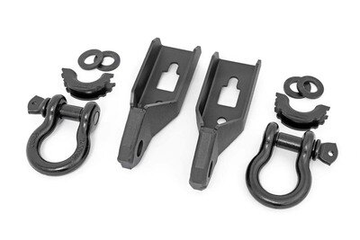 Ford Tow Hook to Shackle Conversion Kit w/ D-Ring & Rubber Isolators (09-20 F-150)