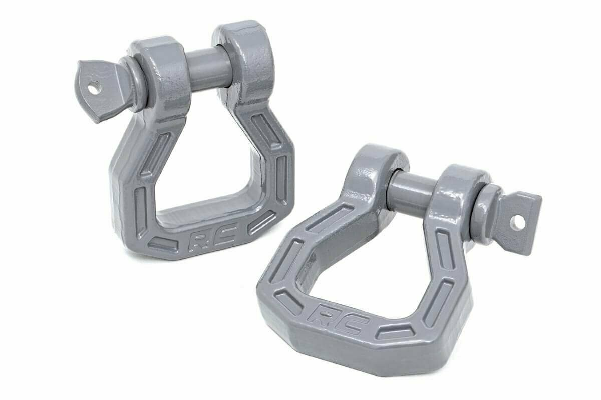 Forged D-Ring Set [Gray, Pair]