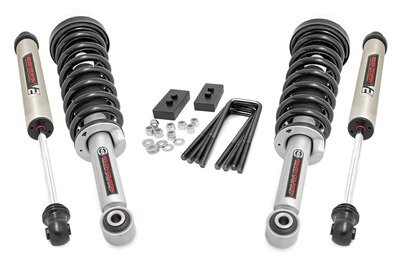 2in Ford Leveling Lift Kit | Lifted Struts & V2 Shocks (09-13 F-150)