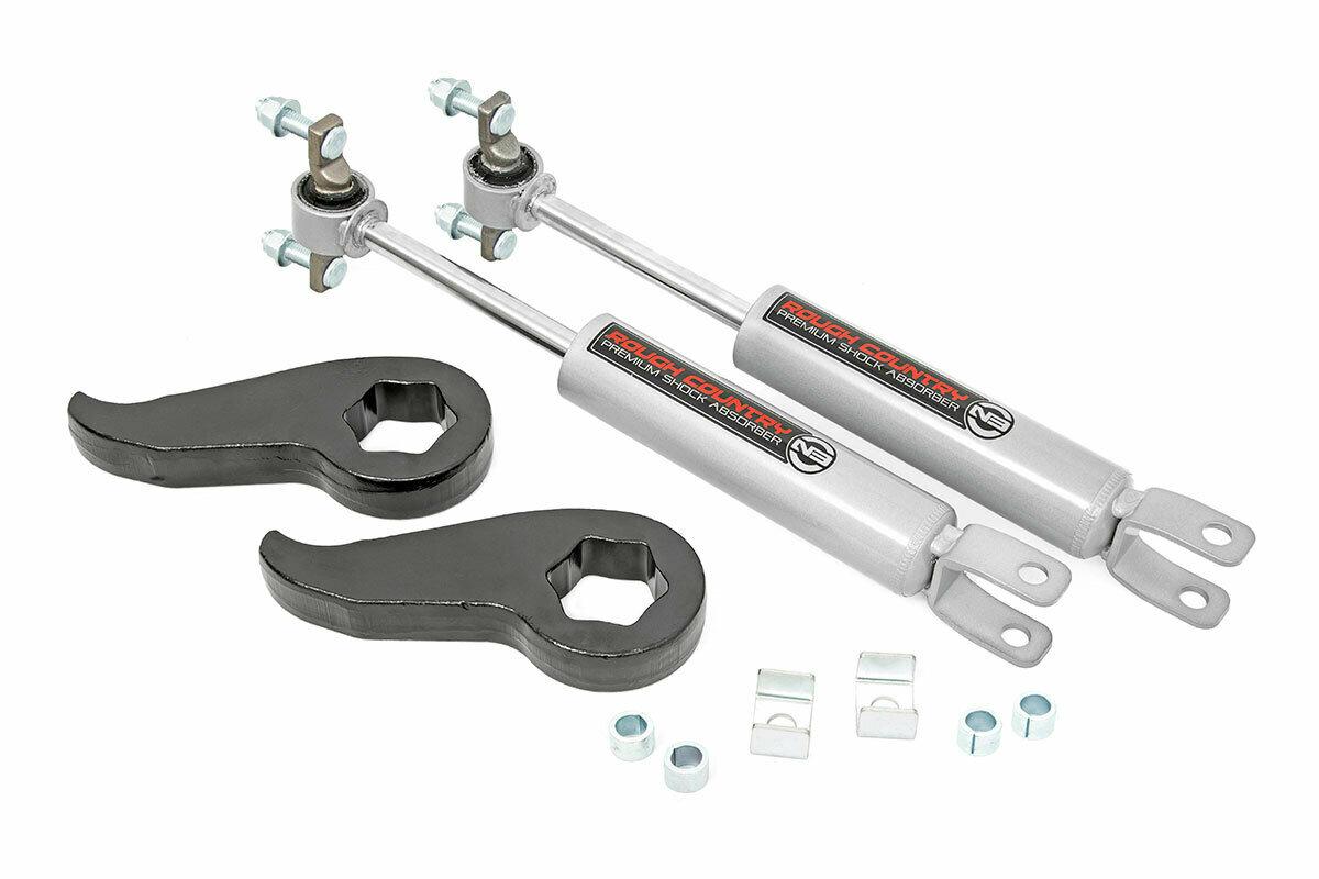 1.5 - 2in GM Leveling Torsion Bar Keys w/ Front N3 Shocks (11-19 2500HD/3500HD)