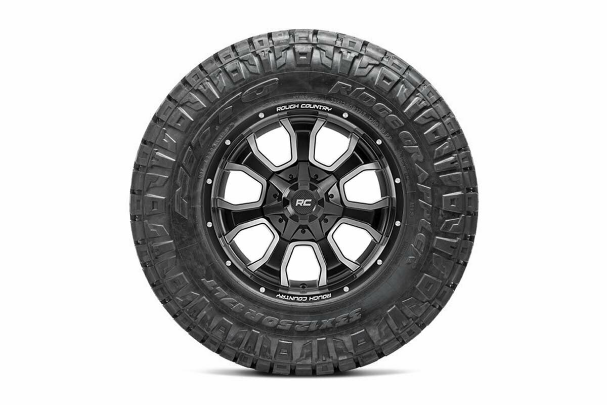 Nitto 295/60R20 Ridge Grappler w/ Rough Country Series 93 20x9 Combo (6x5.5 / 6x135)