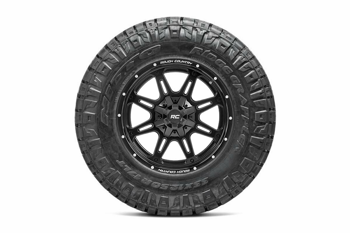 Nitto 35x12.50R20 Ridge Grappler w/ Rough Country Series 94  20x9 Combo (6x5.5 / 6x135)