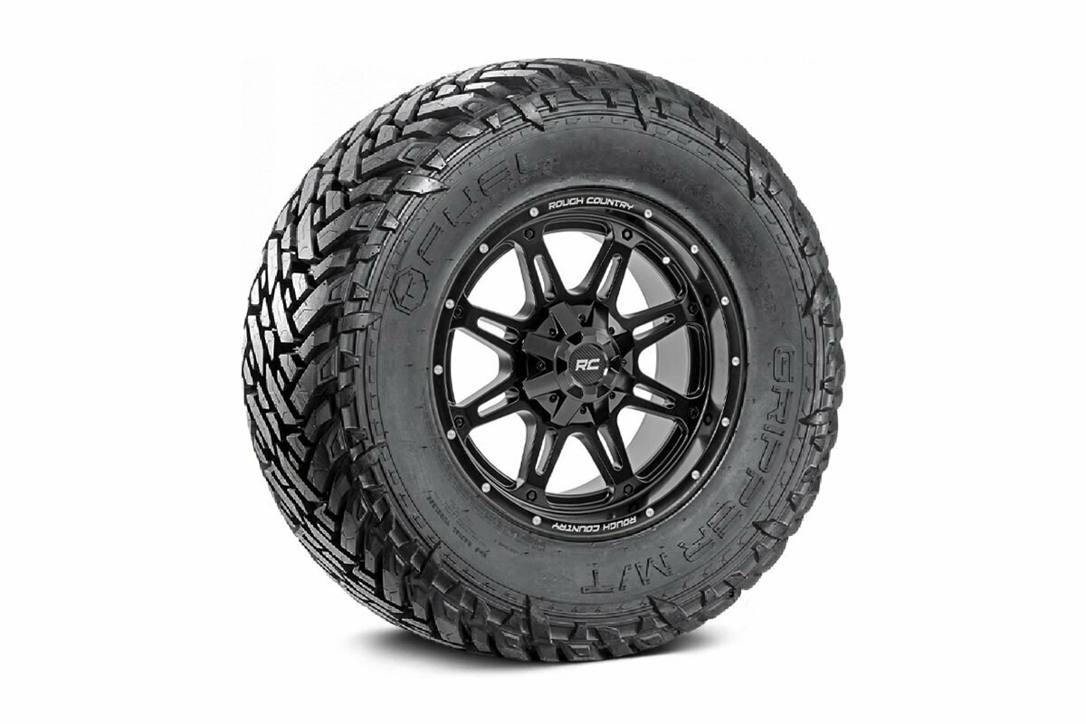 Fuel Gripper 33x12.50 M/T w/ Rough Country Series 94  20x10 Combo (8x6.5)