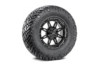 Fuel Gripper 35x12.50 M/T w/ Rough Country Series 94  20x9 Combo (5x5 / 5x4.5)