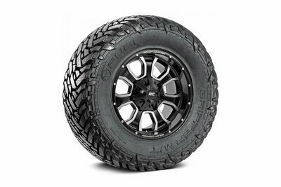 Fuel Gripper 35x12.50 M/T w/ Rough Country Series 93 20x10 Combo (5x5 / 5x4.5)