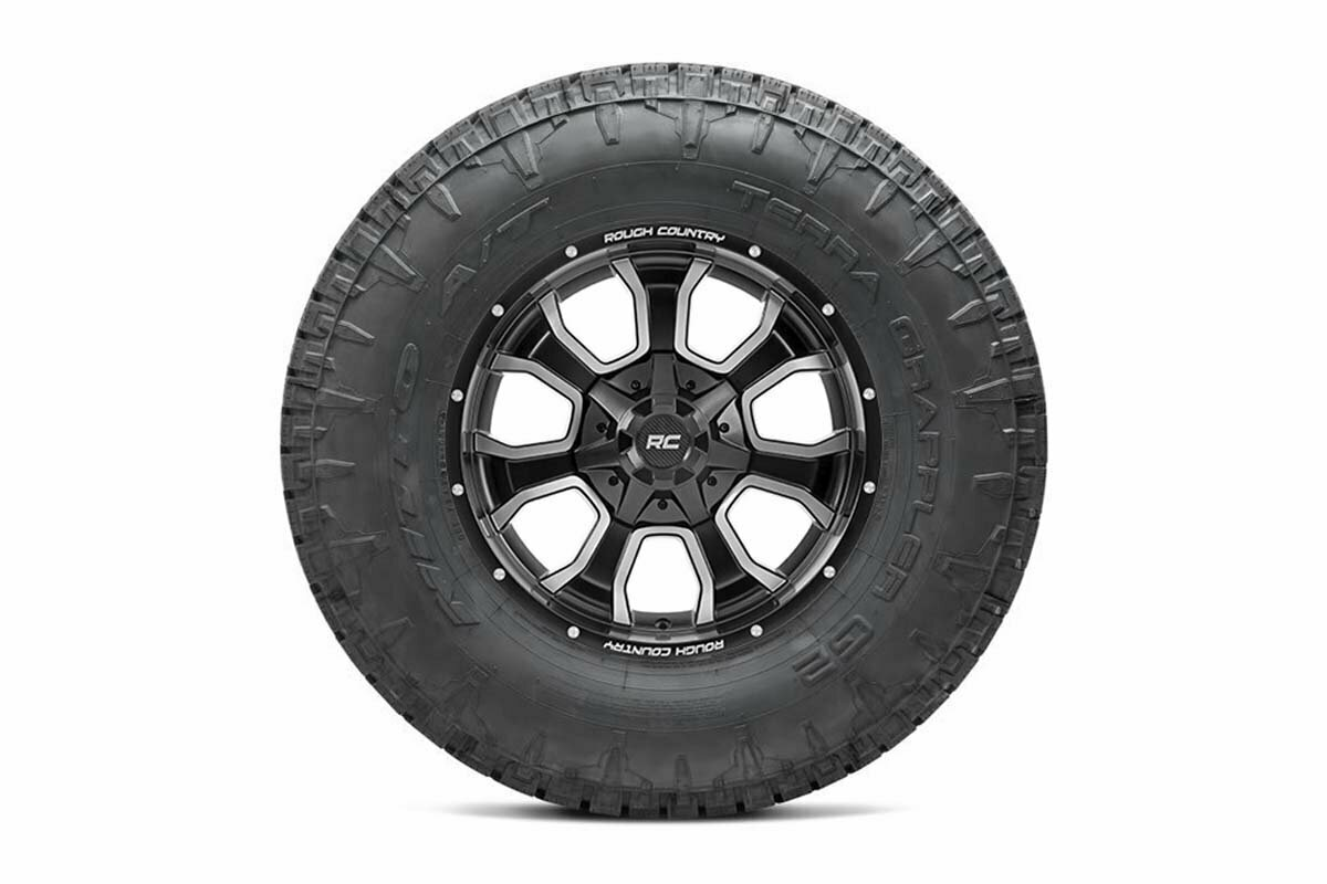 Nitto 35x12.50R20 Terra Grappler G2 w/ Rough Country Series 93 20x10 Combo (5x5 / 5x4.5)