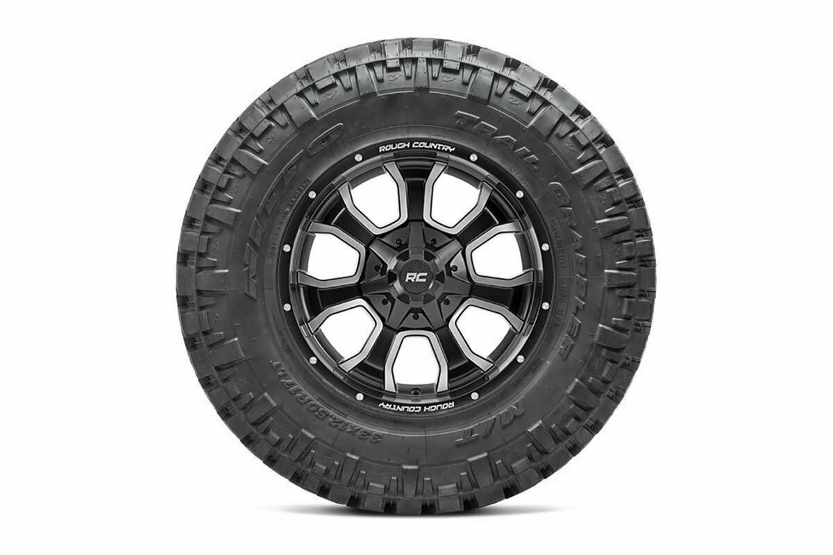 Nitto 35x12.50R20 Trail Grappler w/ Rough Country Series 93 20x10 Combo (5x5 / 5x4.5)