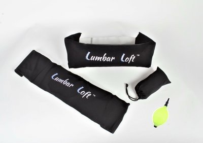 Lumbar Loft Pillow (shown deflated and inflated)