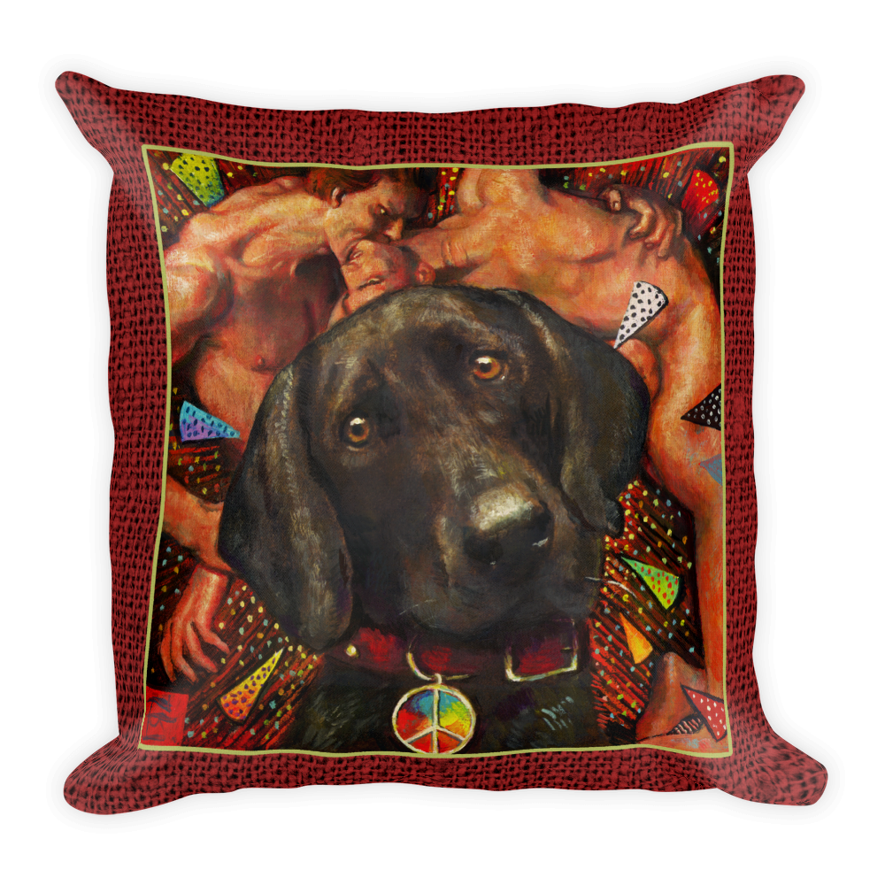 """Humans Suck"" 18""X18"" Pillow 
