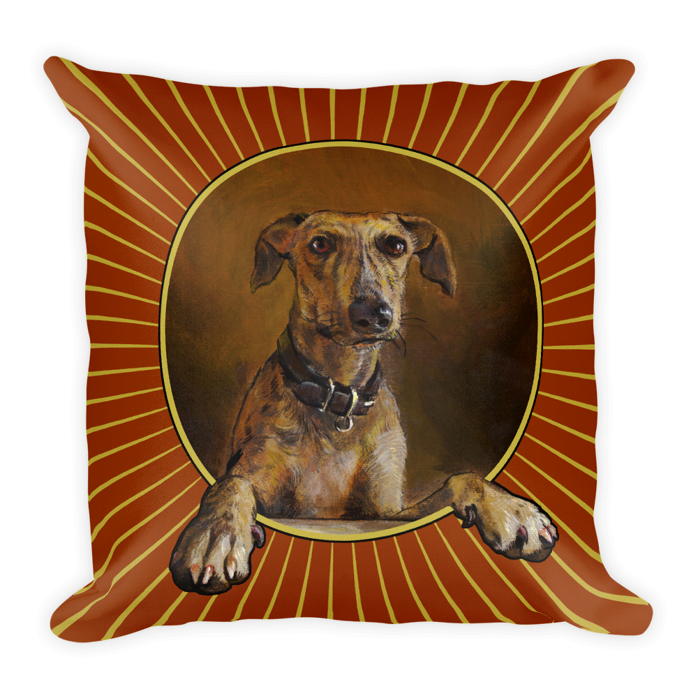 "Greyhound (from ""The Controversy"") 18""X18"" Pillow (Starburst) 