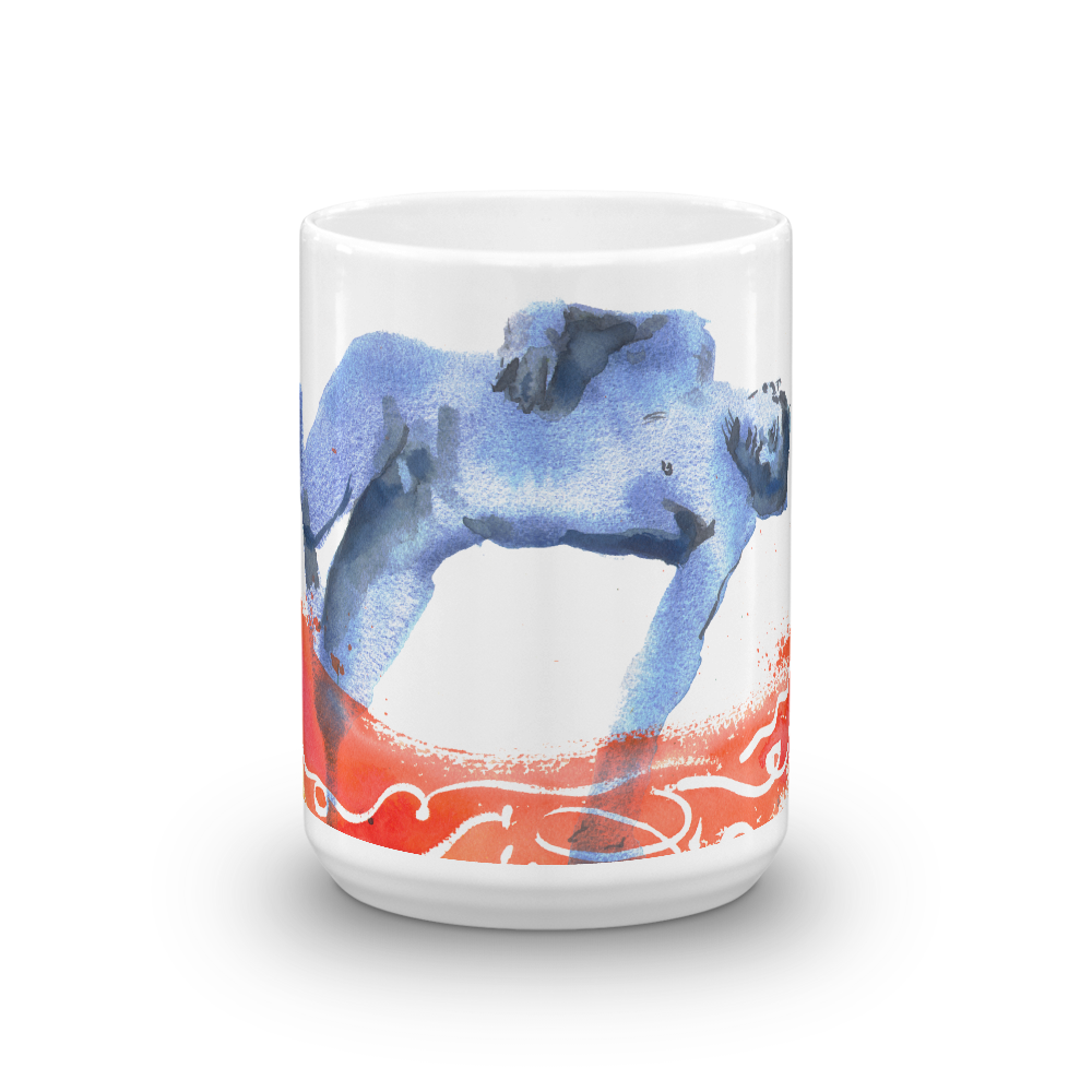 """Heat Wave (Blue Bather)"" 15oz Mug 