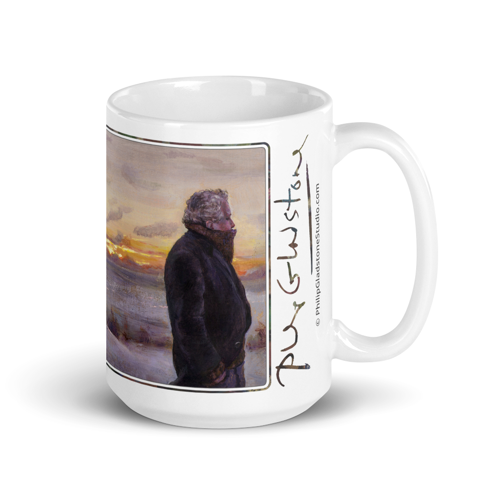 """February Winds (Self-Portrait)"" 15oz Mug   Free Shipping Worldwide"