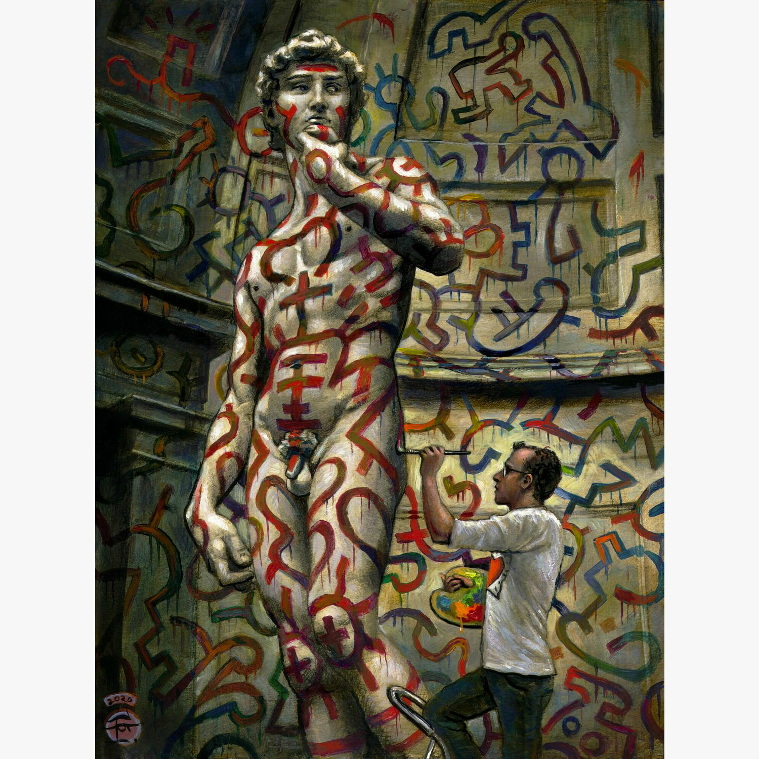 """""""Fearless (for Keith Haring)"""" Limited Edition Print"""