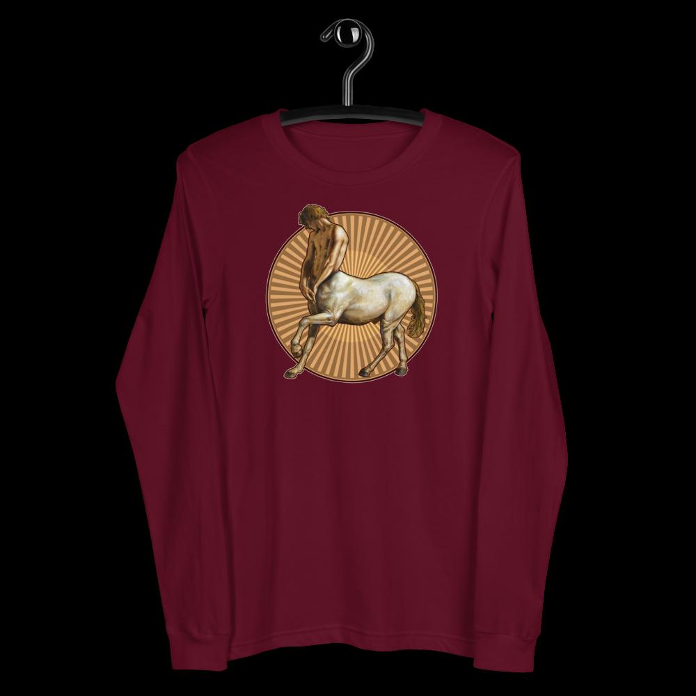 """Pensive Centaur"" Unisex Long Sleeve Tee | Free Shipping Worldwide"