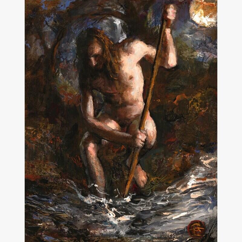 """The Struggle"" Original Painting on Panel"