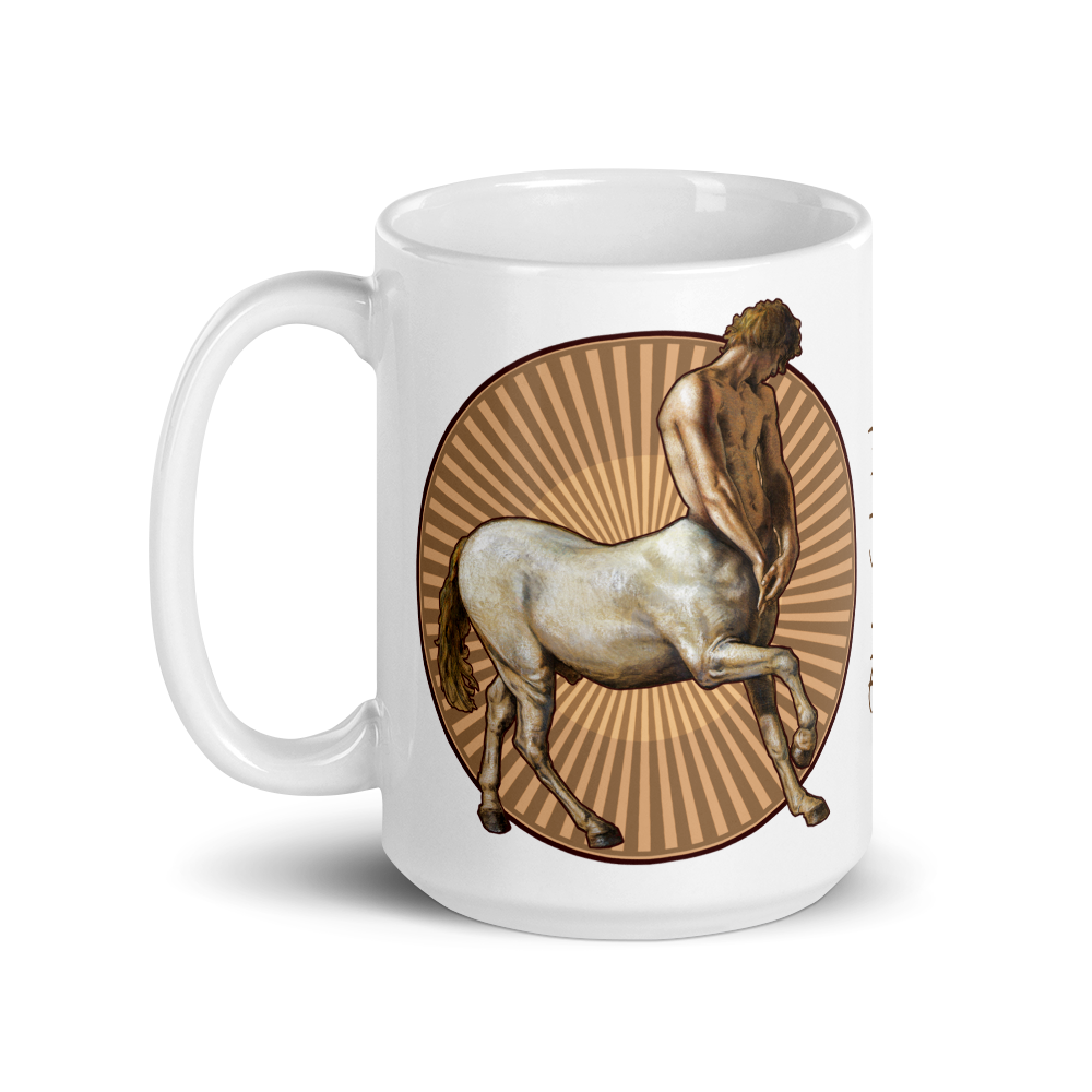 """Pensive Centaur"" 15oz Ceramic Mug | Free Shipping Worldwide"