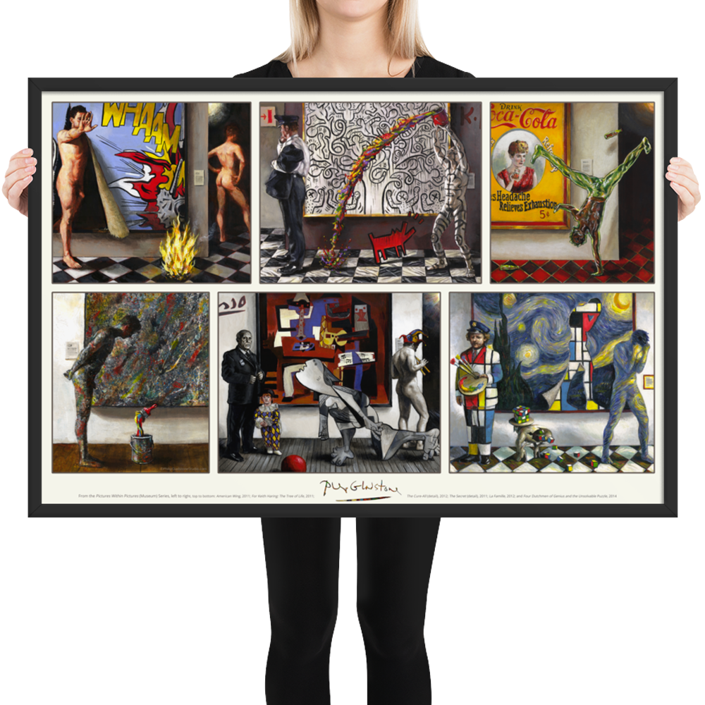 """""""Museum Series"""" 24""""X 36"""" Framed Poster 