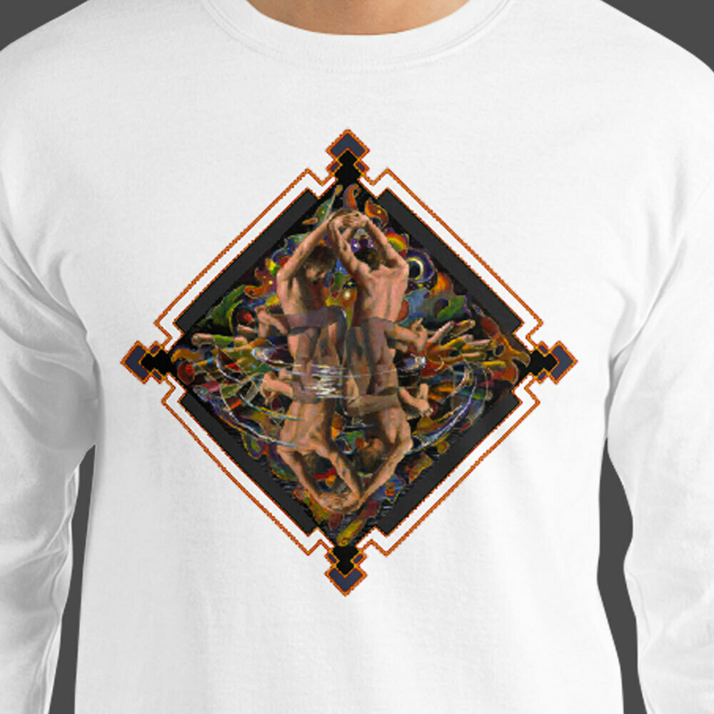 """""""Night Conjurer"""" Men's Long Sleeve Shirt 