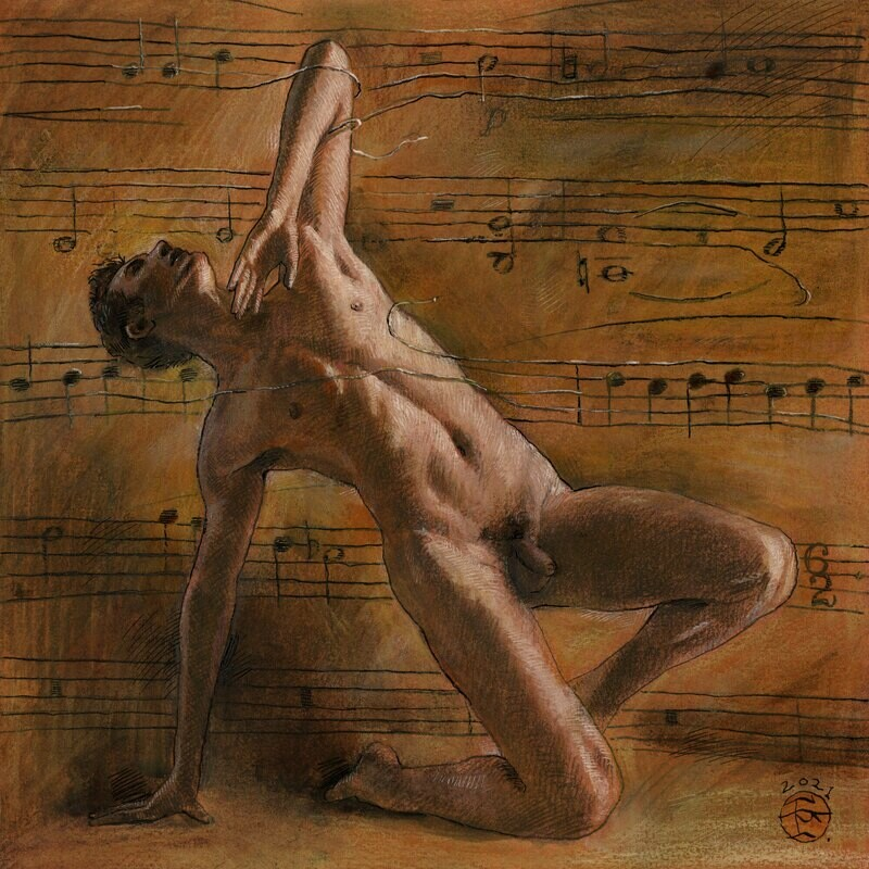 """Tangled (for Samuel Barber)"" Original Work on Paper"