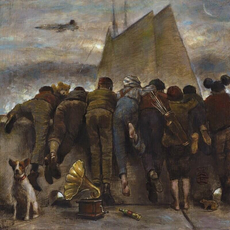 """The Longing"" Original  Painting on Panel"