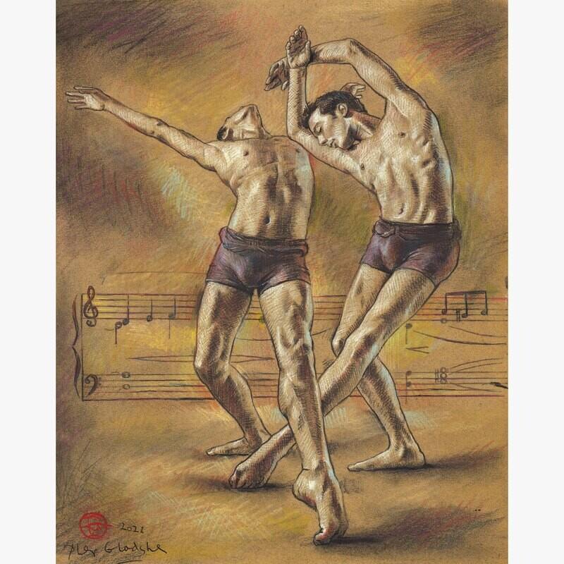 Untitled Dancers Original Work on Paper