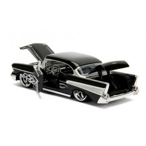 1.24 Big Time Kustom Metals 57 Chevy Bel-Air Black