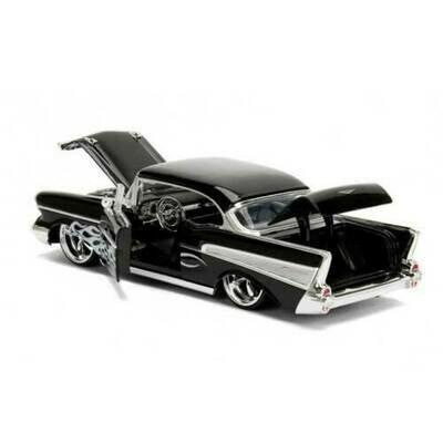 1.24 Big Time Kustom Metals 57 Chevy Bel-Air Black