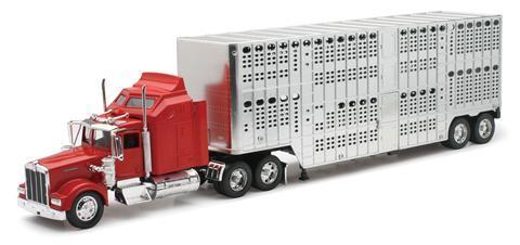 1.32 Kenworth Red W900 Stock Crate
