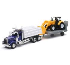 Kenworth w900 Dump Truck Single With Construction Tractor