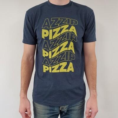 Navy Wavy Azzip Pizza Tee