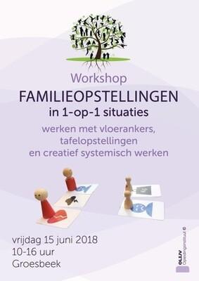 Workshop Familieopstellingen Creatief opstellen in 1-op-1 situaties  3 november