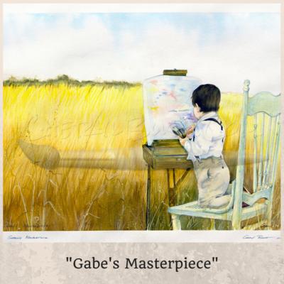 Gabe's Masterpiece - Watercolor