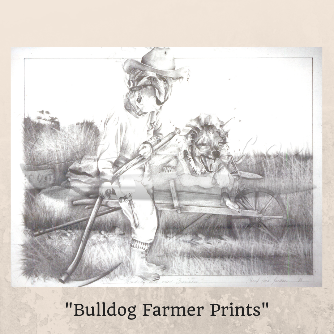 Bulldog Farmer Prints