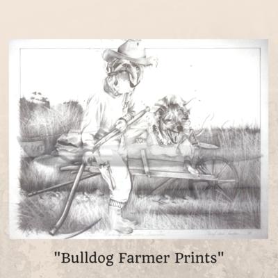 Bulldog Farmer Prints