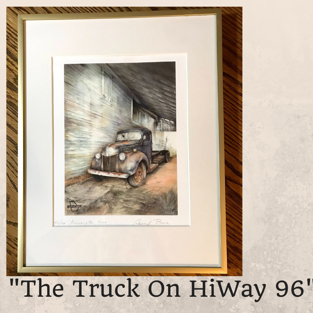 The Truck On HiWay 96 Framed 8 x1 0